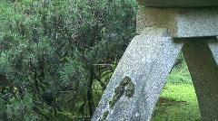 Japanese Stone Lantern Pagoda Stock Footage