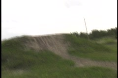 Motocross Jump from underneath Stock Footage