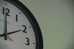 Clock moving fast - stock footage