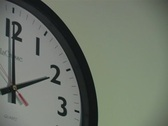 Clock moving fast Stock Footage
