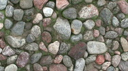 Stock Video Footage of Panoramic view of stone wall