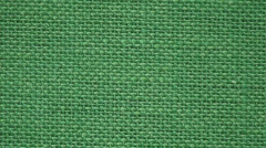 Background from green flax textile one, close-up Stock Footage