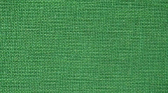 Background from green flax textile two Stock Footage