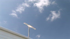 TV Antenna On Top of RV Travel Trailer - Television Antenna Stock Footage