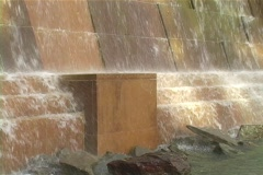 Description: Water Feature or fountain in Toronto Stock Footage