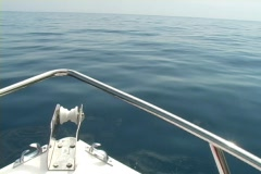Boat ride out on the ocean Stock Footage