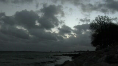 Storm Clouds Baltic Sea 1 - stock footage