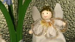 Stock Video Footage of Christmassy flying angels, zoom