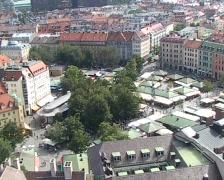 Viktualienmarkt Munich Stock Footage