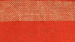 Background from linen textile, close-up Stock Footage