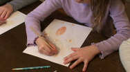Stock Video Footage of Small girl painting a bear