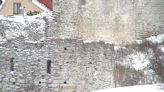 Visby citywall the UNESCO World Heritage Site Visby on the island Gotland  Stock Footage