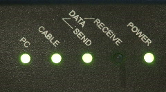Close up of broadband modem. HD 1080i Stock Footage
