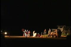 Night construction theater 4 Stock Footage