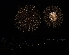 Fireworks: Golden rain Stock Footage