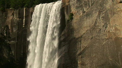 Vernal Falls, Yosemite National Park, California - stock footage