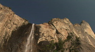 Bridalveil Falls, Yosemite National Park, California Stock Footage