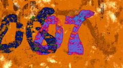 Countdown on orange grunge background (HDTV) Stock Footage