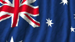 Australia, flag Stock Footage