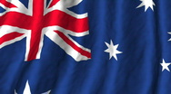 Stock Video Footage of Australia, flag