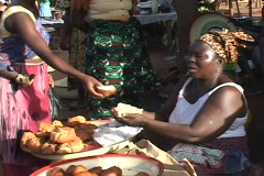 Togo, Africa: Women in market Stock Footage