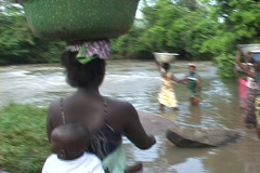 Togo, Africa: Collecting water Stock Footage