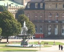 Schlossplatz, Stuttgart Stock Footage