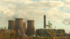 Power station cooling towers HD 1080i - stock footage