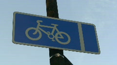 Cycle lane Stock Footage