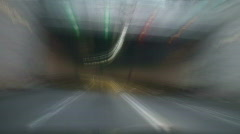 High speed time-lapse tunnel drive through Stock Footage