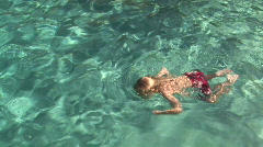 Young Boys Swimming Underwater in Pool - stock footage
