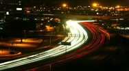Stock Video Footage of Highway at night timelapse 02