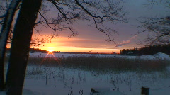 Winter sunrise scenics four Stock Footage