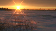 Winter sunrise scenics nine Stock Footage