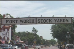 Ft Worth Stockyards - stock footage