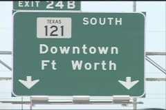Ft Worth Highway 121 - stock footage