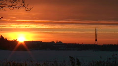 Winter sunrise scenics two Stock Footage