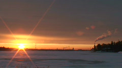 Winter sunrise scenics seven Stock Footage