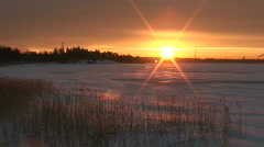 Winter sunrise scenics eight Stock Footage