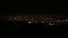 LA city lights slow-zoom Stock Footage