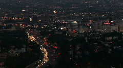 Stock Video Footage of LA Hollywood freeway dusk