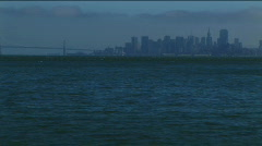 SF Bay from boat Stock Footage