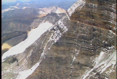 Lake Magog from high on Mount Assiniboine Stock Footage