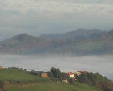 Fog landscape - southern tuscany - italy Stock Footage