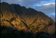 Evening Light on Opal Range 3 Stock Footage