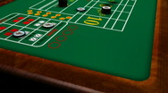 Stock Video Footage of Casino - Dice rolled on Craps table