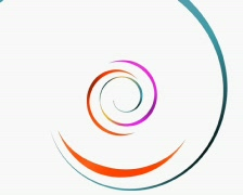 ribbon spiral (PAL25p) - stock footage