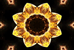 Ornamental Kaleidoscope (NTSC) Stock Footage