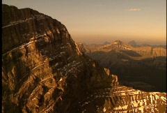 Fly down Mount Lougheed Ridge  Stock Footage