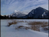 Stock Video Footage of Mount Rundle in winter